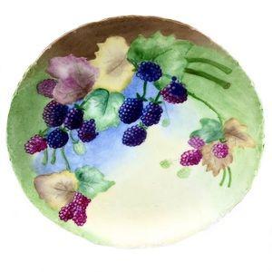 Antique 1896 RC Versailles Plate Blackberries